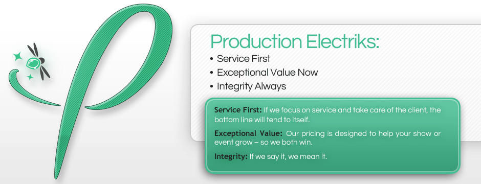 Production Electriks provides full-service temporary power distribution services.